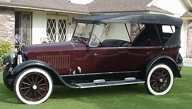 Left Side Burgandy 1925 Studebaker Duplex Phaeton Car Picture