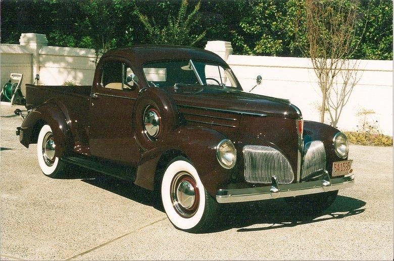 Front Right Brown 1939 Studebaker Pickup Truck Picture