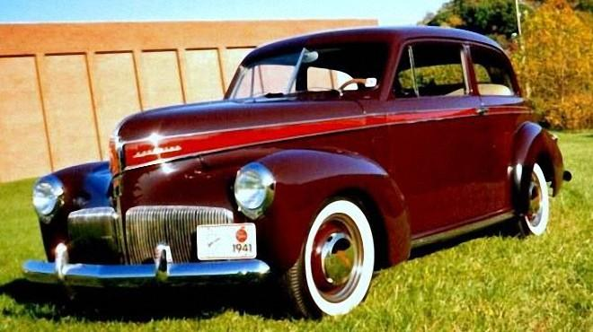 Front Left Maroon 1941 Studebaker Champion Car Picture