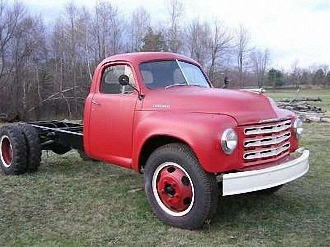 Front Right Red 1949 Studebaker Pickup Truck Picture