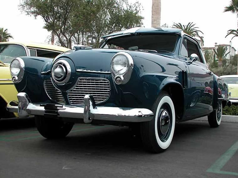 Front Left Blue 1951 Studebaker Commander Car Picture