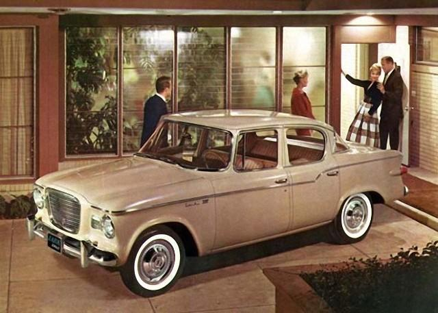 Front Left Beige 1959 Studebaker Lark Car Picture
