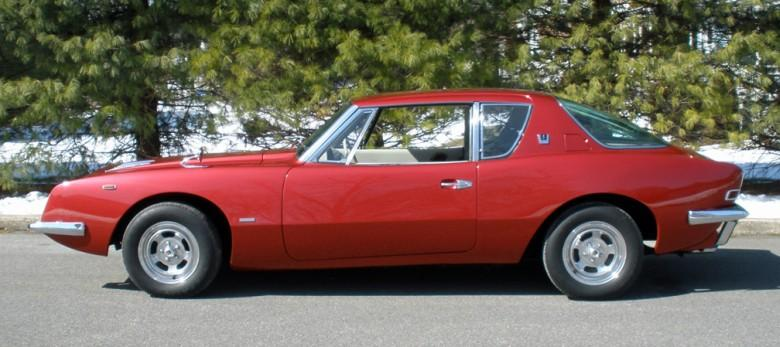Left Side Red 1963 Studebaker Avanti R2 Car Picture