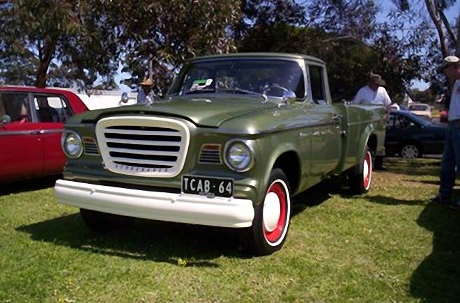 Front Left Green 1964 Studebaker Champ Pickup Truck  Picture